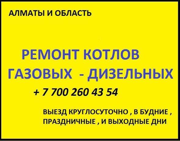 Ремонт , Профилактика, Чистка -  Газовых , Дизельных   Котлов .