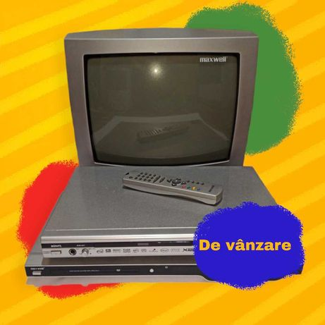 Televizor Maxwell cu telecomanda [2 DVD Playere Cadou]