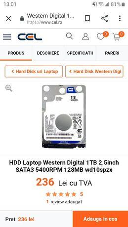 Vand Hard  Disk  1TB