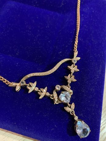 Бриллиантовое колье из золота 585 пробы