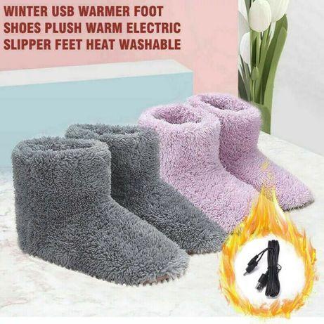 Електрически пантофки, топли чехли, пантофи с подгрев, грейка за крака