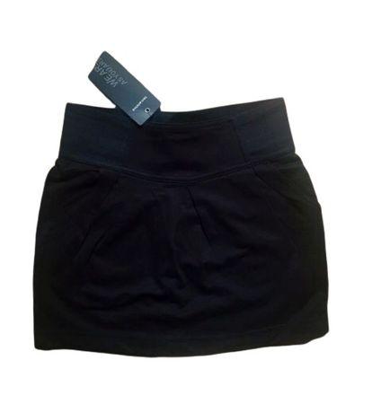 Fusta Terranova scurta neagra elastic bufanta stil Bershka buzunare