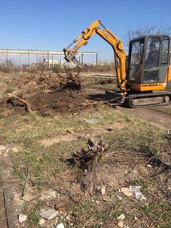 Inchiriez miniexcavator sapaturi excavatii fose fundatii demolari