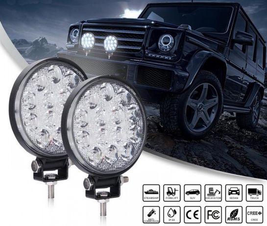 Proiectoare LED Auto Offroad Rotunde 42W Proiector SUV ATV Moto Barca