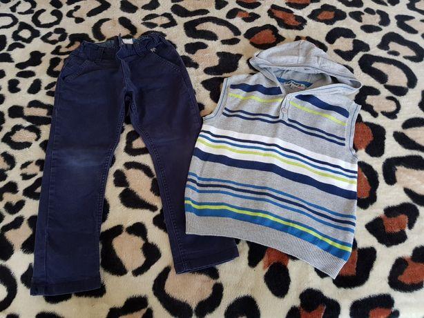 Lot haine băieți,pantaloni Jasper Conran și vestă cu glugă,5-6 ani