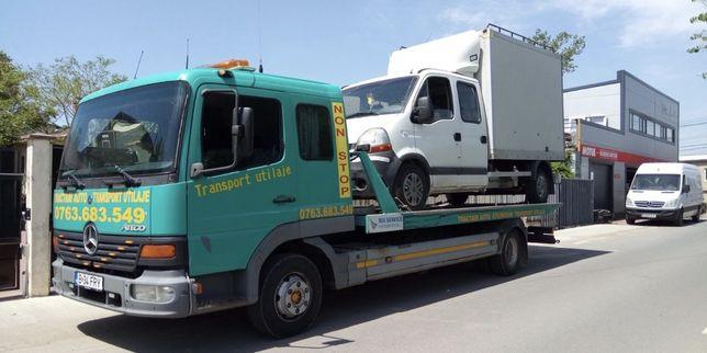 Tractari auto moto transport rulote utilaje containere platforma auto