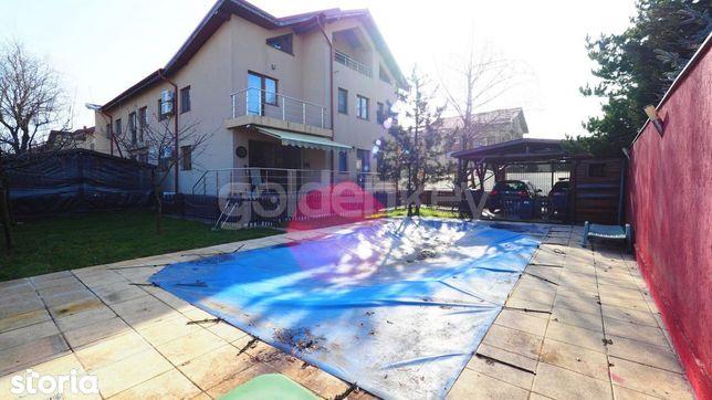 Vila mobilata cu 7 camere si piscina in complex rezidential