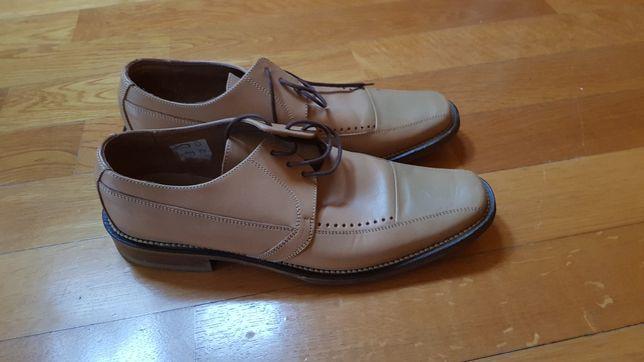 Pantofi 43 bej piele naturala