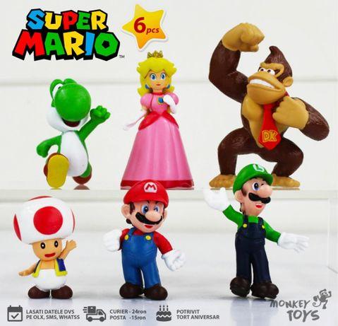 Set figurine / jucarii Mario, Peach, Luigi