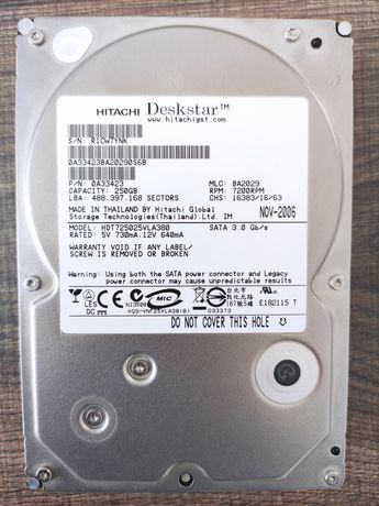 HDD Hitachi GST Deskstar T7K500