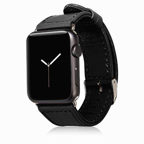 Curea Apple Watch 5, 4 44mm, 1, 2, 3 42mm, piele naturala, Jison Case