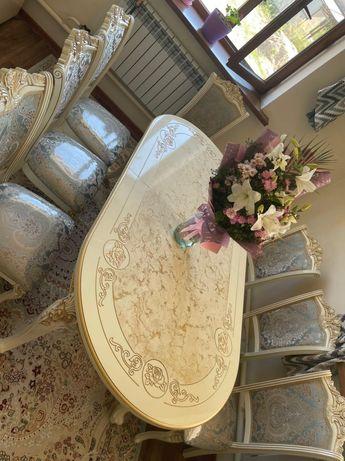Столы под мрамор и стулья Дагестан. Мебель со склада Дёшево у нас!!!