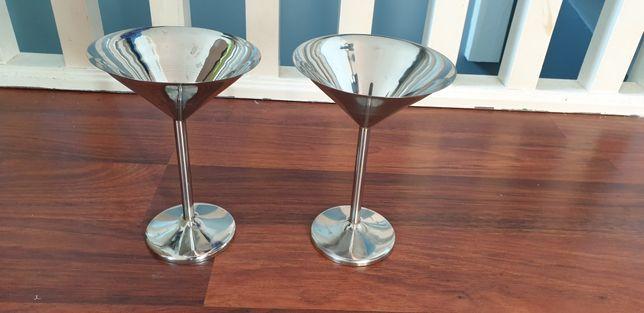 Pereche de pahare inox martini