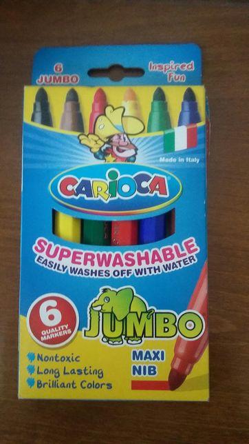 Продам фломастеры 6 цветов Carioca