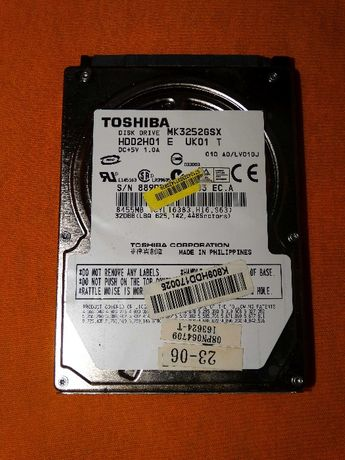Hard disk laptop Toshiba 320 Gb