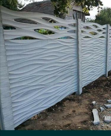 Vand gard din beton armat