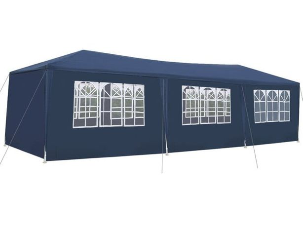Cort pavilion pentru gradina, curte sau evenimente 3x9m, bleumarin
