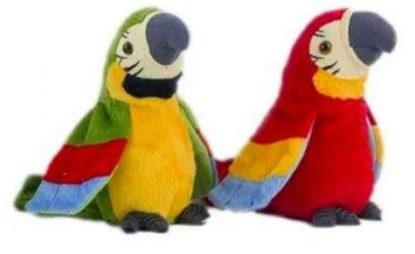Говорещ плюшен папагал
