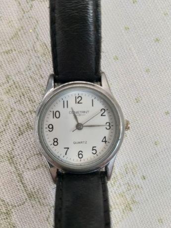 Ceas de mâna Constant, cumparat din Anglia, curea din piele neagră