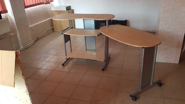 birou modular fier si lemn