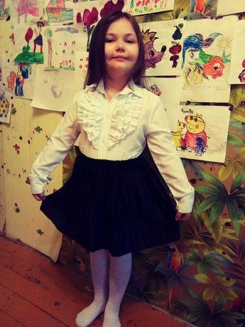 Блузка юбка школьная 1-2 класс на 6-7 лет