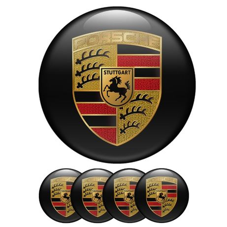 силиконови стикери за капачки на джанти Porsche размери от40,42,44