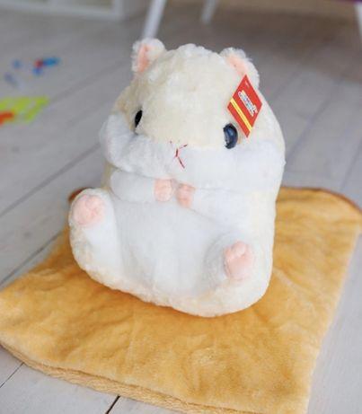 Мягкая игрушка «хомяк 3в1 удобная подушка, милая игрушка, теплый плед»