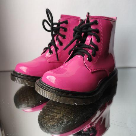 Розовые осенние ботинки для девочек