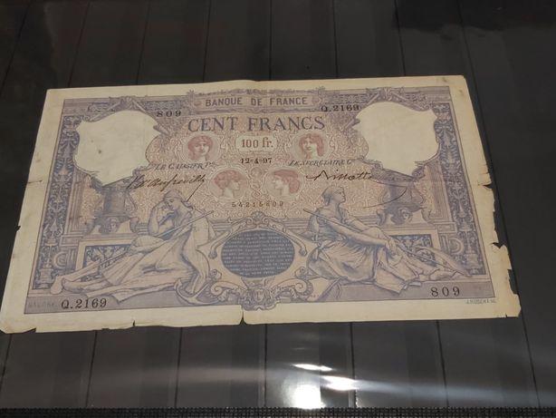 Bancnota rara 100 francs type 1888