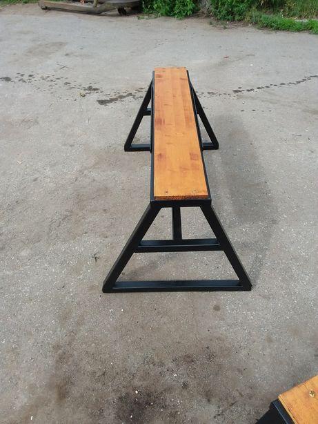 BANCA NOUA solida, cu lemn masiv si cadru din fier