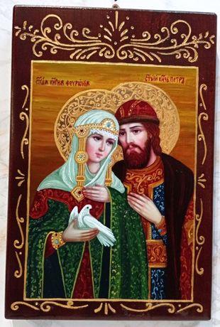 Икона на Петър и Феврония - рисувана