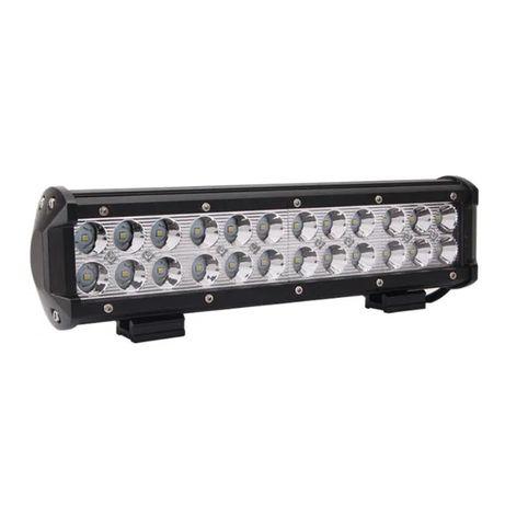 30СМ / Мощен Led Bar Лед Диоден Бар Фар Прожектор 12/24V 72W 24 диода