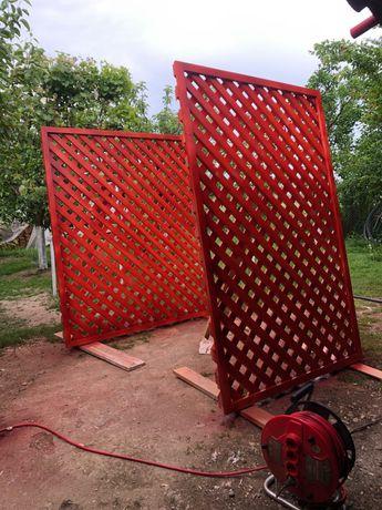 Gard lemn gradina