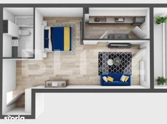 Apartament 1 camera, 48 mp utili, 12 mp terasa, imobil nou!