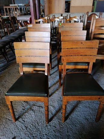Масивен стол с кожена дамаска внос от Европа