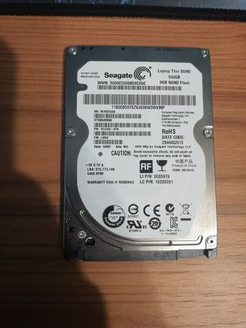 Laptop Thin SSHD 500Gb SEAGATE 8Gb Nano Flash