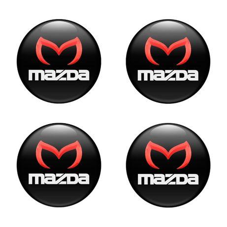 3D Силиконови стикери за капачки на джанти Мазда/Mazda - 40-120 мм