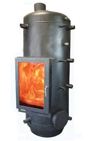 Puffer cu șemineu solar și recuperator cu boiler de inox în 600 litri