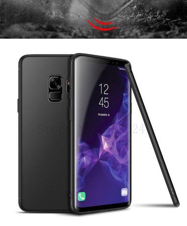 Samsung S9 S9 Plus - Pachet Husa Silicon Clara/Neagra + Folie Sticla