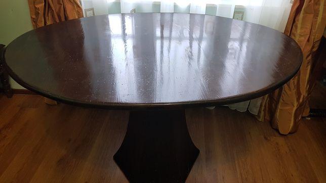 Masă ovală lemn masiv