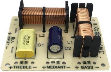 Filtru audio pentru boxe, 3 cai, 4-8 Ohm/100W