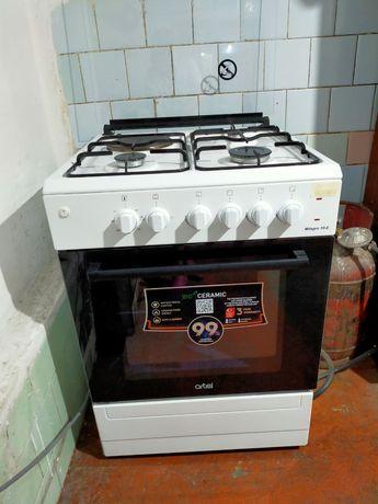 Газовая плита, с электрической духовкой, комбинированная artel