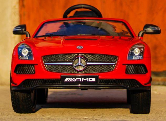 Masinuta electrice pentru copii Mercedes SLS AMG cu Scaun tapitat #RED