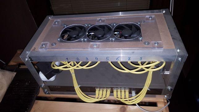 Rig mining Cluster cu 8 Orange Pi Prime pt home lab, Docker etc.