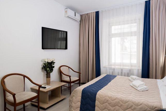 Мини гостиница с хорошей репутацией. В середине Алматы-1 и Алматы-2