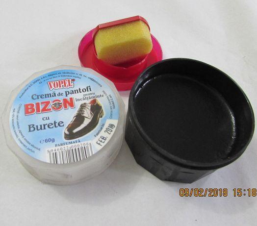 BIZON – crema neagra de pantofi cu aplicator