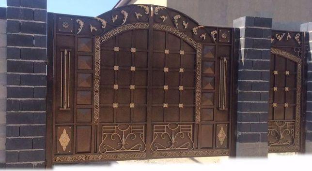 Ворота готовые (каталог через ватсап).