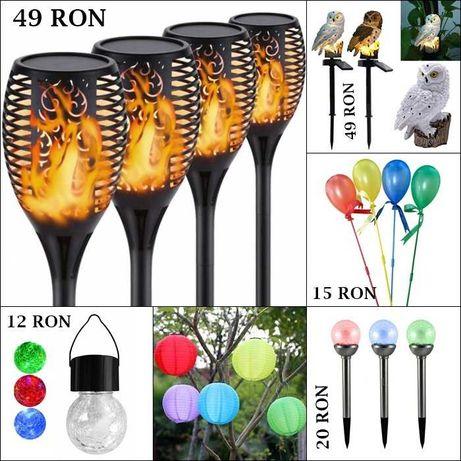Lampa, flacara, lampion, bufnita, glob, balon solar pentru gradina