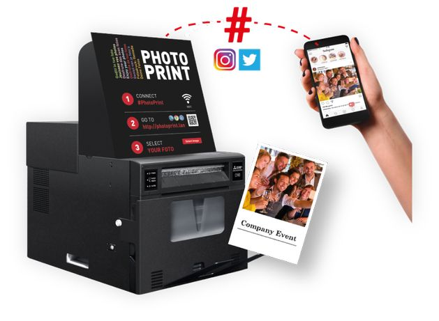 Set Imprimanta foto profesionala Mitsubishi Smart D90Ev