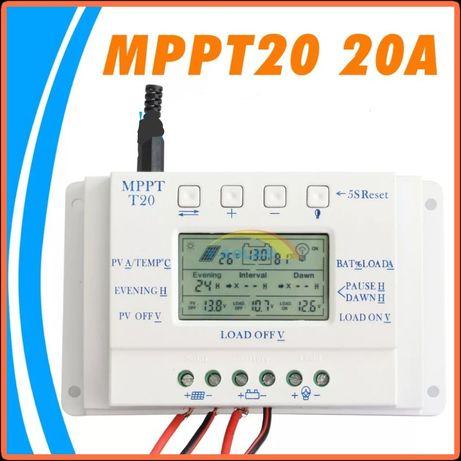 Соларен контролер 20А МППТ ВИСОК КЛАС 20А MPPT солар кемпер регулатор